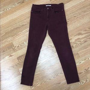 Levi's Slimming Skinny Maroon Jeans